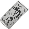 Overlaid Silver Kokopelli Money Clip 32818