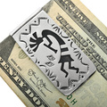 Silver Kokopelli Navajo Money Clip 32818