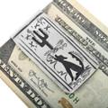 Navajo Coyote Saguaro Silver Money Clip 32830