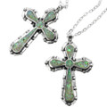 Opal Inlay Cross Pendant 32833