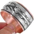 Hand Made Overlay Navajo Bracelet 32854