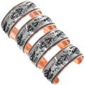 Southwestern Native American Copper Cuff Bracelets 32854