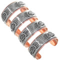 Native American Bear Claw Southwestern Copper Bracelets 32859