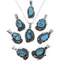 Navajo Made Turquoise Pendants 32868