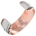 Navajo Made Copper Bracelet Artist Signed 32872