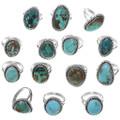 Kingman Turquoise Navajo Rings 32909