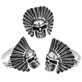 Badass Skull Rings Sterling Silver 32967