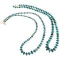 Native American Beaded Turquoise Necklace 32996