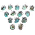Navajo Garrison Boyd Royston Turquoise Rings 33018