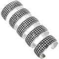 Navajo Rosco Scott Silver Cuff Bracelets 33023