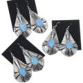Navajo Henry Attakai Opal Earrings 33029