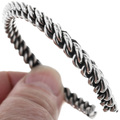 Elaine Tahe Silver Cuff Bracelet 33031