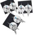 Dangle Earrings Sterling Feathers 33043