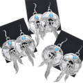 French Hook Earrings Sterling Feathers 33057