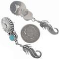 Post Style Sterling Dangle Earrings 33070