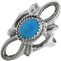 Navajo Turquoise Silver Ladies Ring 33080