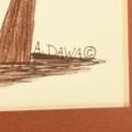 Hopi Tribe Artwork Alfred Dawahoya Signed 33094