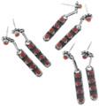Zuni Made Coral Earrings Artist Rena Laate 33138