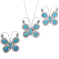Native American Butterfly Pendant Pin Brooch 33167