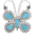 Turquoise Butterfly Pendant 33167