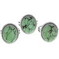 Green Spiderweb Turquoise Rings 33178