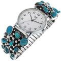 Vintage Natural Turquoise Navajo Watch 33212