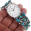 Old Pawn Native American Turquoise Watch 33212