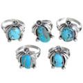 Sky Blue Kingman Turquoise Rings 33224
