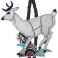 Old Pawn Zuni Inlaid Deer Bolo Tie 33237