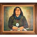 Native American Original Oil Painting 33219