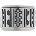 Navajo Overlay Rug Pattern Belt Buckle 33264