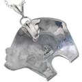 Sterling Silver Mudhead Kachina Bear Pendant Signed 33266