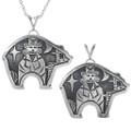 Native Kachina Design inside Bear Pendant 33267