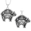 Native American Hand Made Silver Bear Pendants 33268
