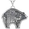 Silver Ogre Kachina Bear Pendant 33270