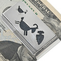 Navajo Made Silver Overlay Money Clip 33279