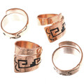 Navajo Overlay Copper Bypass Ring 33287