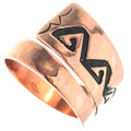 Navajo Geometric Pattern Copper Ring 33290