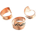 Native American Copper Bypass Rings 33290