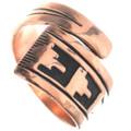 Navajo Copper Overlay Ring 33291