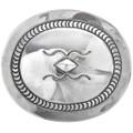 Vintage Hammered Sterling Silver Belt Buckle 33330