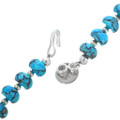 Turquoise Necklace Sterling Silver Accents 33332