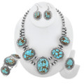 Genuine Turquoise Necklace Set 15690