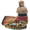 Native Corn Design Hand Carved Kachina 33375
