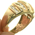 Gold Diamond Ladies Ring 33382
