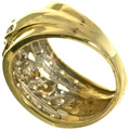 Gold Swirl Diamond Ring 33384