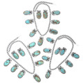 Navajo Sterling Silver Number 8 Turquoise Jewelry 29865