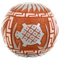 Hand Etched Native American Polychrome Pottery 33504