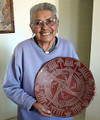 Florence  Aguilar Naranjo (with one of her grandmother's plates) 33514