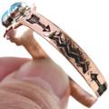 Children's Turquoise Copper Cuff Bracelet 33560